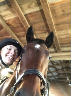 Fun with Locket, a wonderful mare I am privileged to ride occasionally