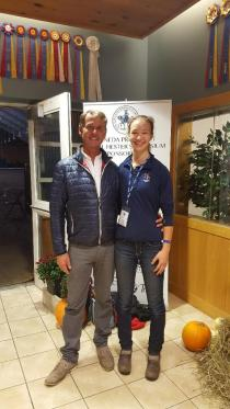 With the legendary Carl Hester!